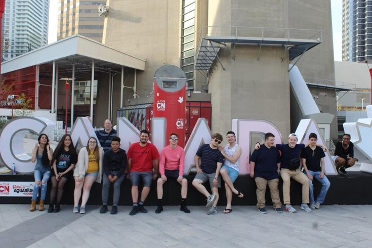Penn State students at the CN Tower