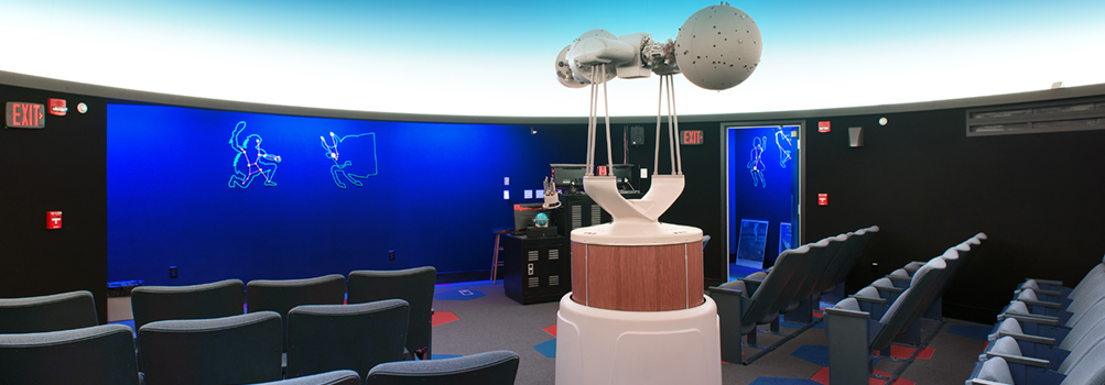 The Yahn Planetarium at Penn State Behrend features a 55-seat astronomy theater, projectors, and computer equipment..