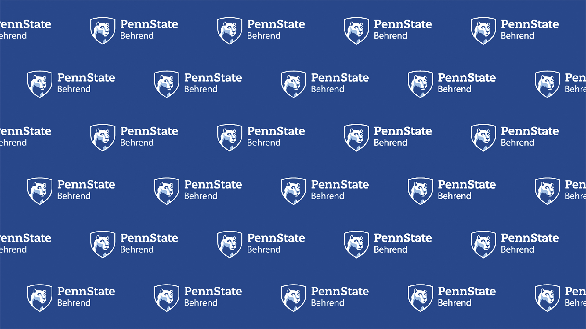 Repeating Penn State Behrend mark