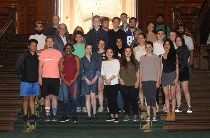 Penn State students at Queen's Park, the Ontario Legislative Assembly building