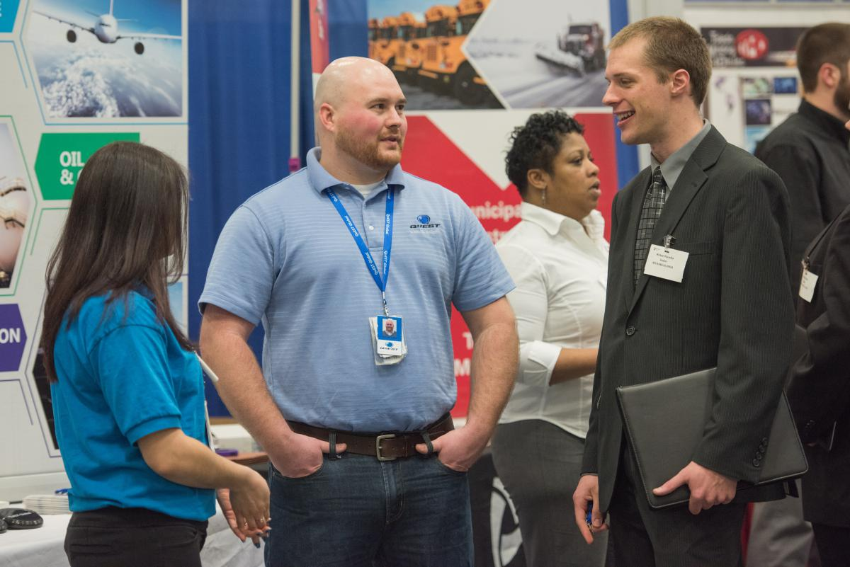 More than 850 students attended this year's Spring Career and Internship Fair at Penn State Behrend.