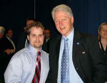 PoliSci Student with Bill Clinton