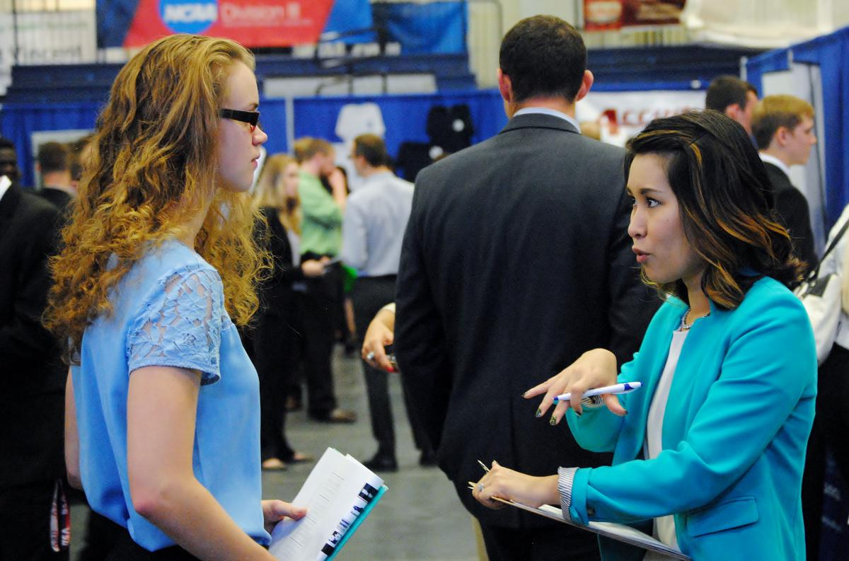 A total of 1,182 students attended the fall Career and Internship Fair Sept. 28 at the college.