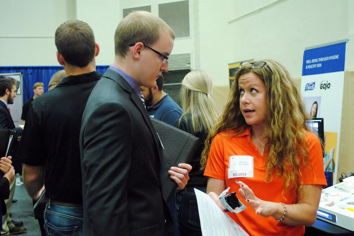 More than 1,200 students attended this year's Fall Career and Internship Fair at Penn State Behrend.