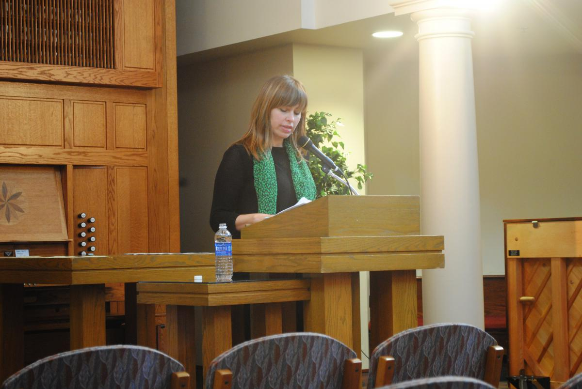 Katie Ford opened the 2015-16 season of the Creative Writers Reading Series on Sept. 17.