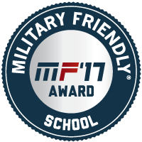 Military Friendly School mark with link to this site
