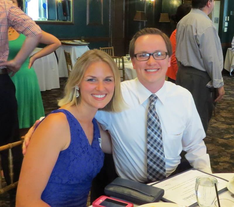 MBA student Bradley Zabish attended the Pittsburgh MBA ceremony with his sister Courtney Steele.