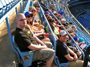 Penn State and Ryerson University students watch the Toronto Blue Jays beat the Minnesota Twins at the Rogers Centre