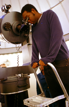 Student in Mehalso Observatory