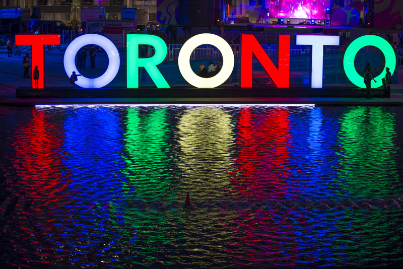 Toronto sign in Nathan Phillips Square