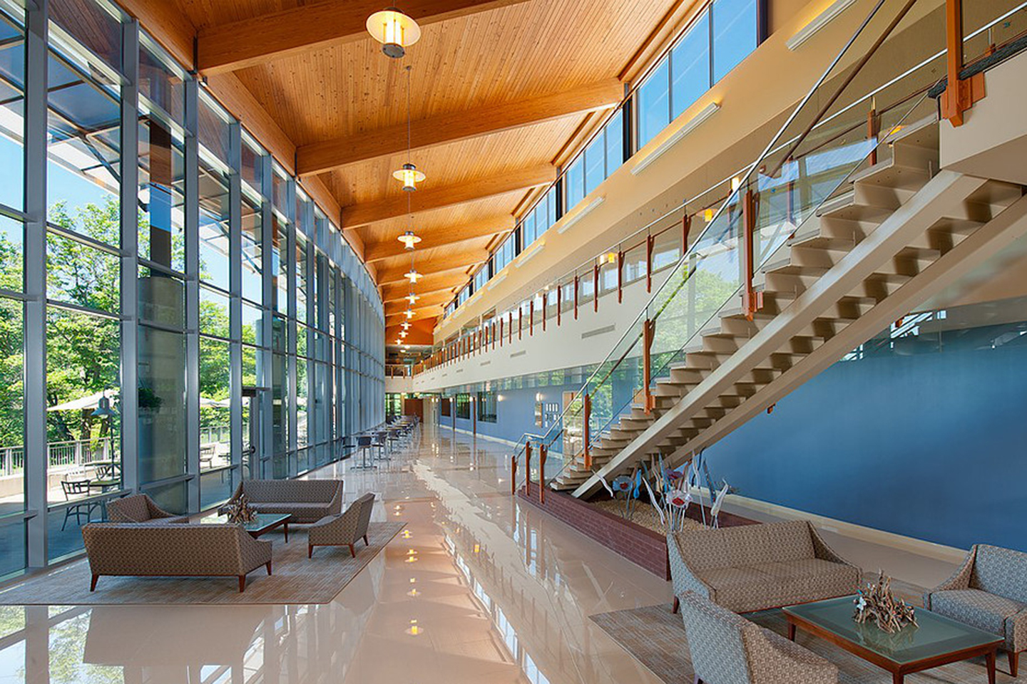 Atrium at the Regional Learning Alliance in Cranberry Woods