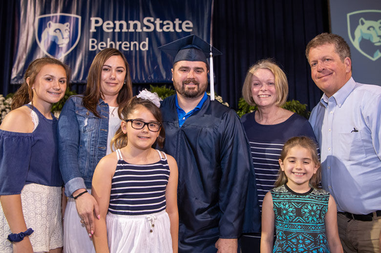 John Richard Anderson at commencement with his family