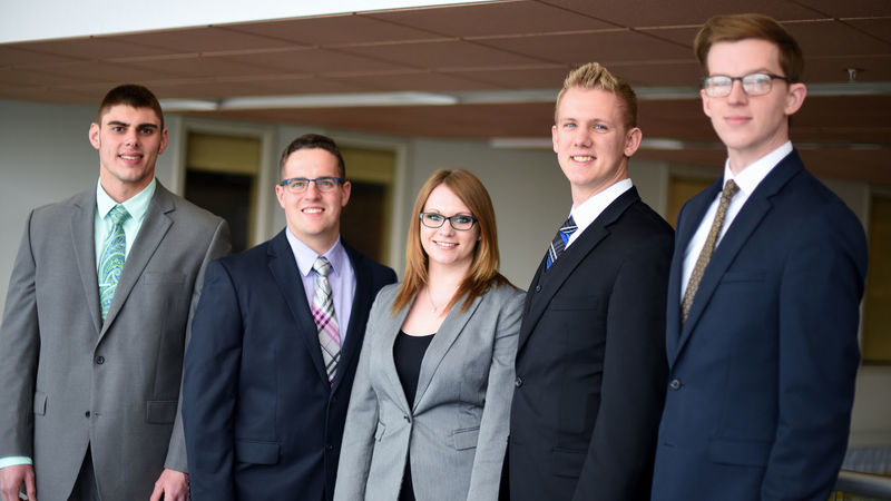 A portrait of the Penn State Behrend CFA Research Challenge team