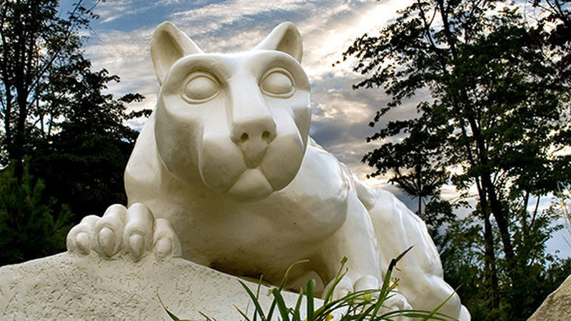 The Nittany Lion shrine at Penn State Behrend