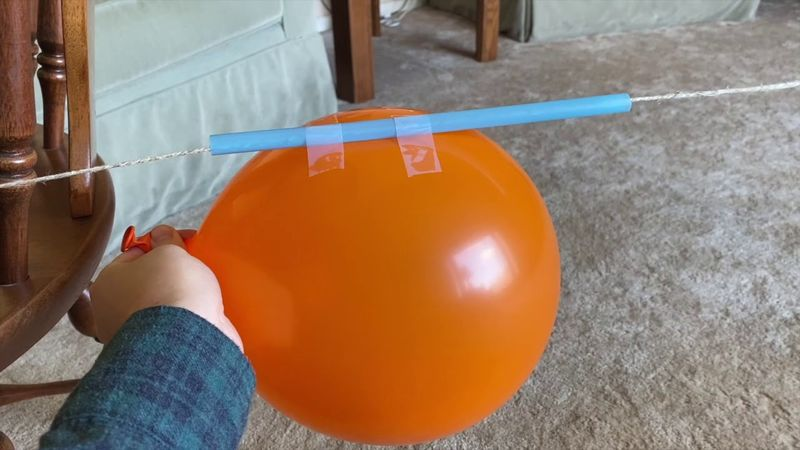 Science Story Time Experiment: Balloon Rocket