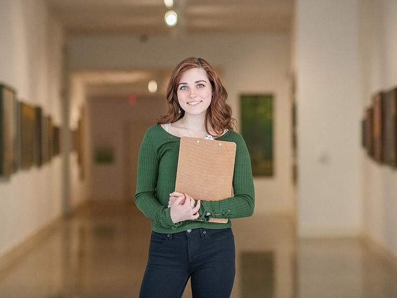 DIGIT and ARTSA major Olivia Coghe at Erie Art Museum