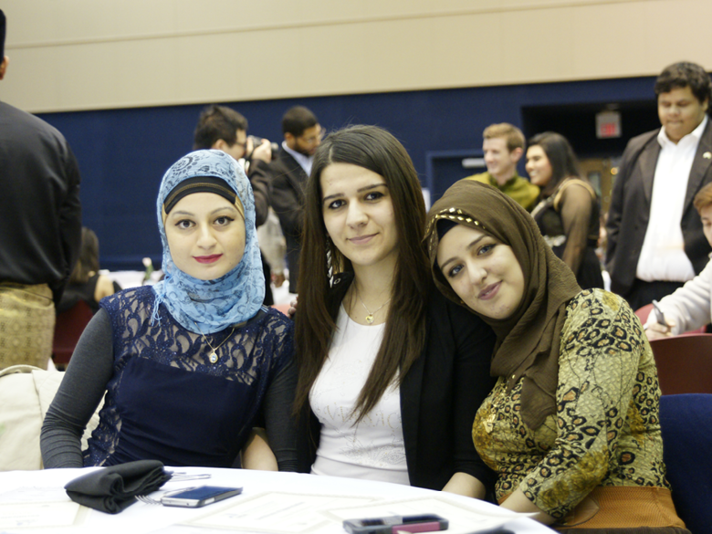 Three students at the MSA Banquet pictured.
