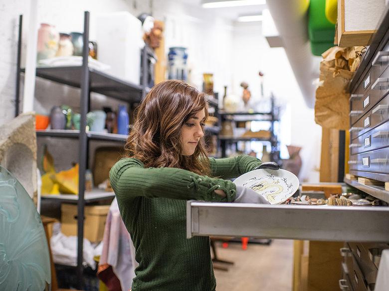 Student at Erie Art Museum internship