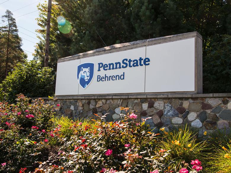 Penn State Behrend sign
