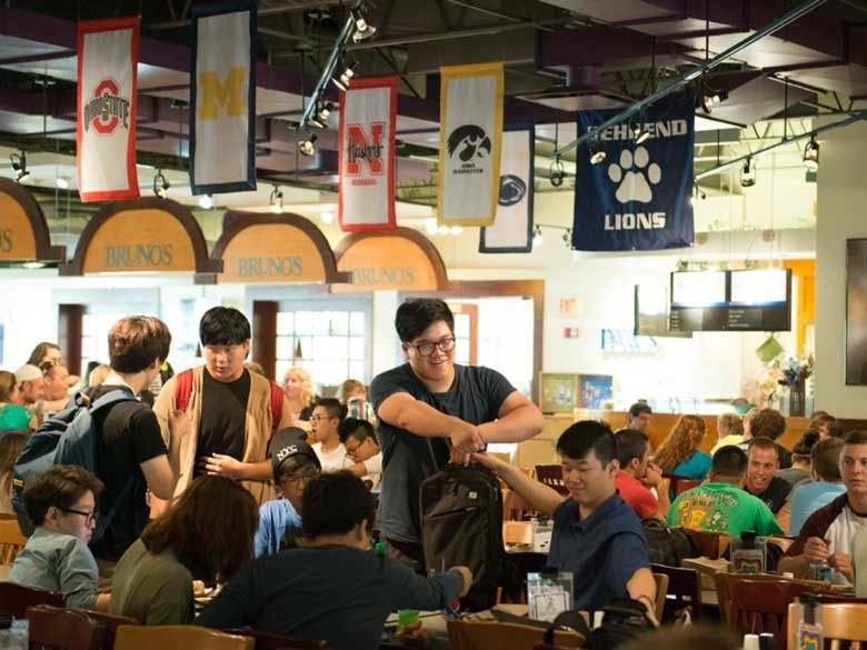 Bruno's Cafe has ample seating for dining, studying, or just hanging out.