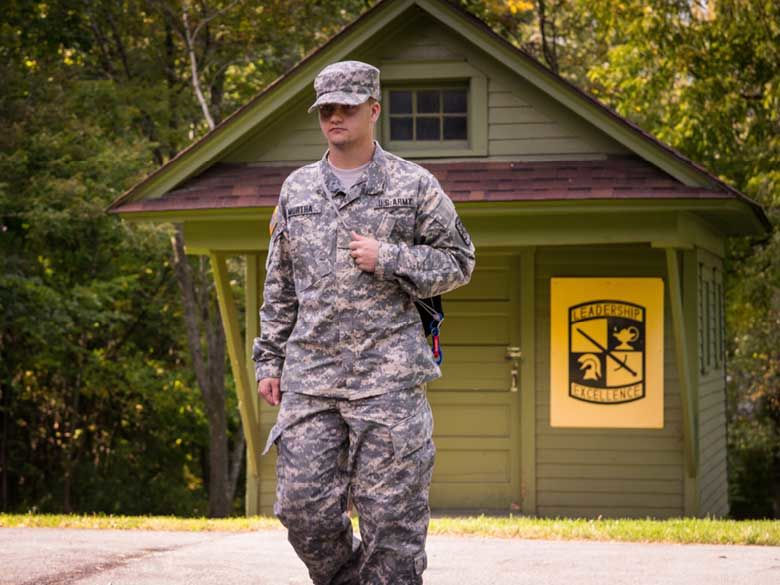 A Behrend student participates in the Army ROTC program.