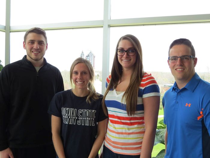 Accounting Scholarship Winners: From left, Chris Martone, Nicole Overby, Meredith Snyder, and Andrew Buzzelli