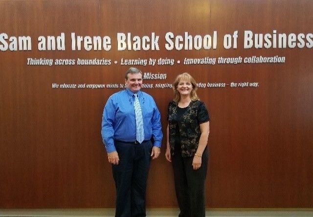 Chuck Brown and Linda Hajec