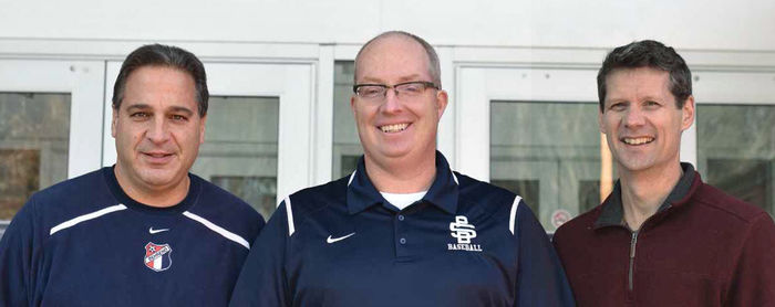 Longtime Behrend coaches, from left, Dan Perritano, Paul Benim, and Dave Niland.