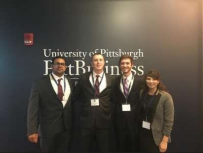 IBE Students at Pitt2016 Race to The Case Competition at the University of Pittsburgh