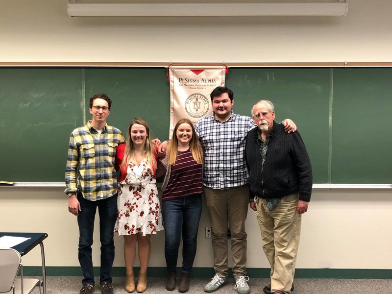 Aubrey Baranowski was initiated into the Penn State Erie chapter of the Pi Sigma Alpha Political Science Honor Society in April 2018