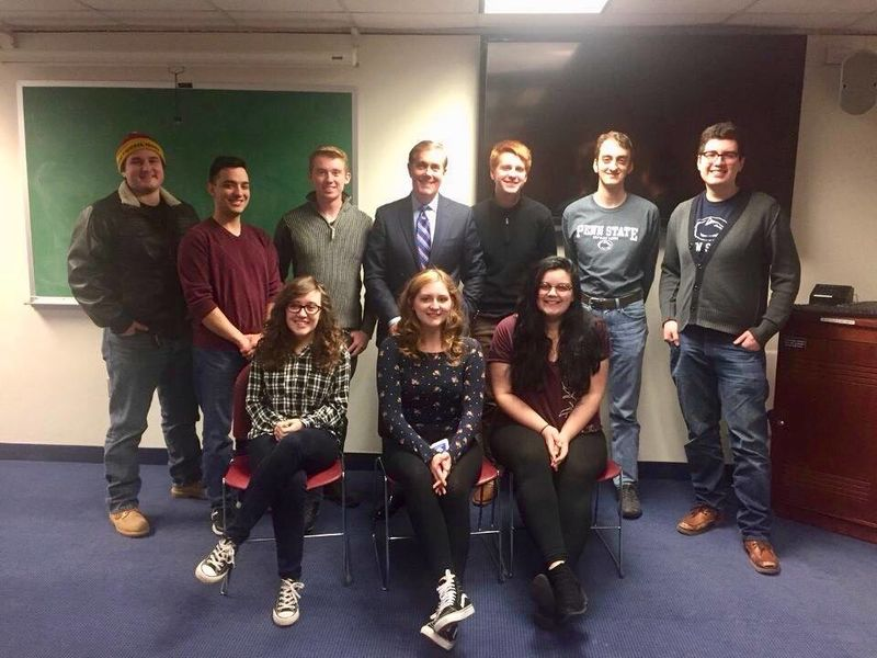 In November 2017, Steve Scully, Senior Executive Producer and Political Editor at C-SPAN, spoke on the Penn State Erie campus