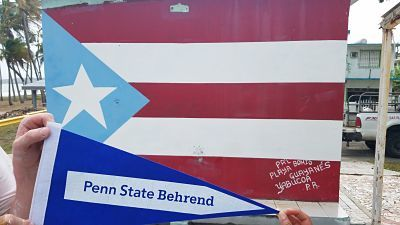 Penn State Behrend Flag and Puerto Rican Flag