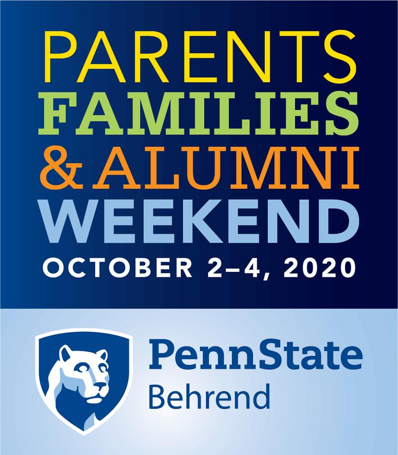 Penn State Behrend Parents, Families & Alumni Weekend: October 2-4, 2020