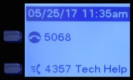 LCD phone screen (classrooms and labs) with Tech Help button