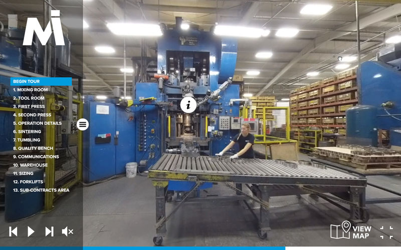 Staff members at Penn State Behrend's Centers for Teaching and eLearning Initiatives recently developed a 360-degree virtual tour of Metco Industries.