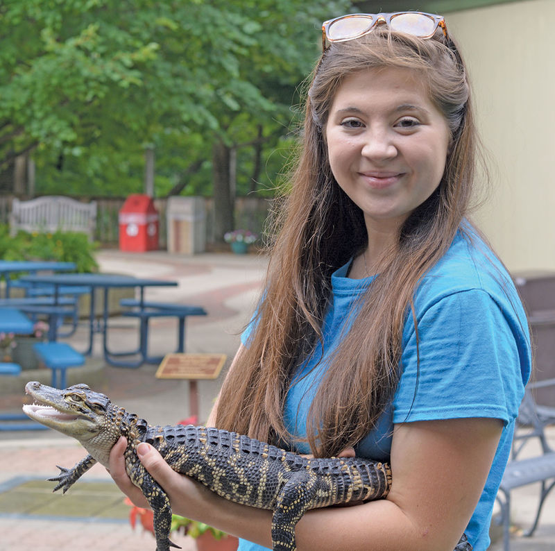 Maloney works part-time at the Erie Zoo while she finishes her degree at Behrend.