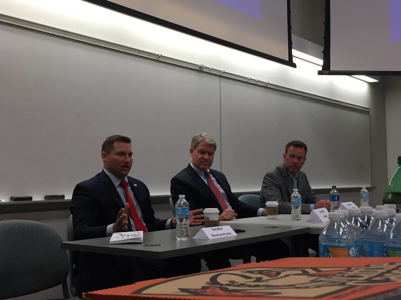 In September 2017, the Behrend Political Society and College Republicans presented An Evening With Three State Senators with Pennsylvania Senators