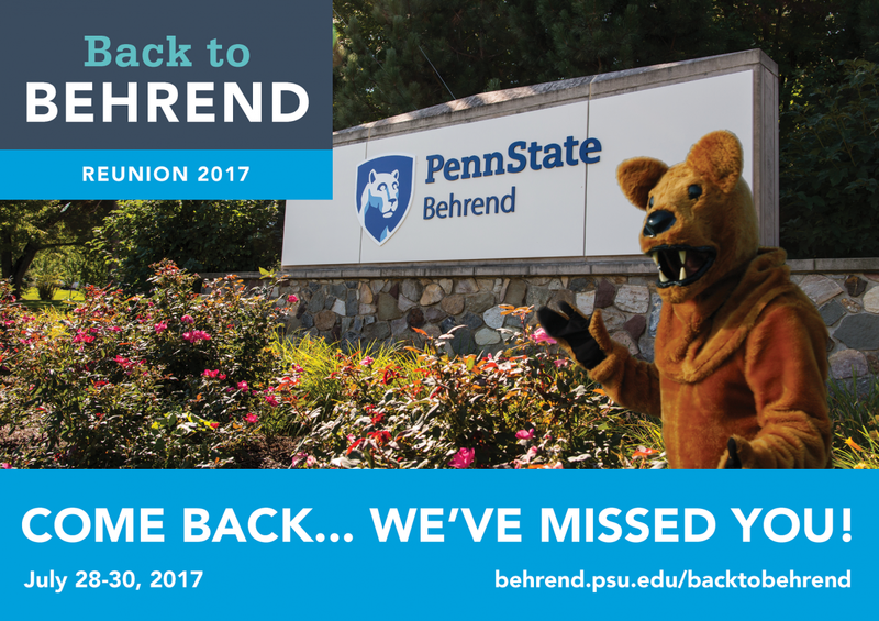 Back to Behrend postcard