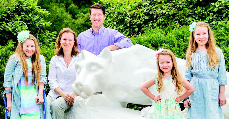 The Mellish family, from left, Emily, Joy, Thad, Lauren, and Taylor
