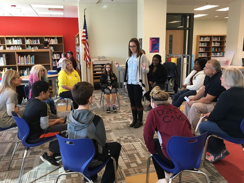 The Mentor Project at Girard Middle School, group activity