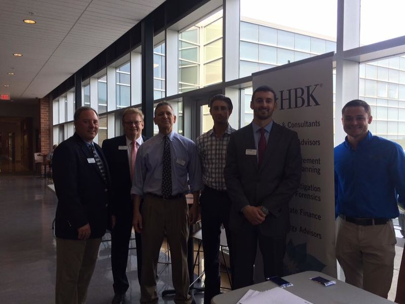 Members of HBK on campus for Corporate Day.