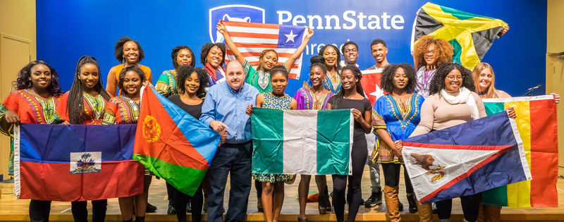Organization of African and Caribbean Students' Heritage Night event and Sorority Bid Day at Penn State Behrend.