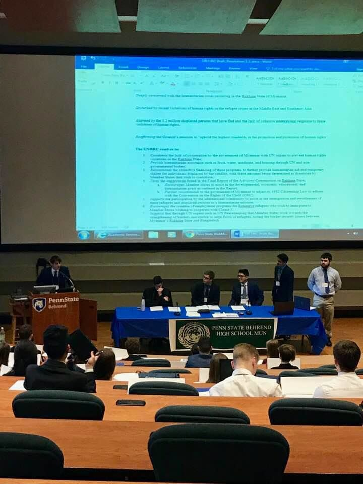 Inaugural High School Model United Nations Conference at Penn State Behrend