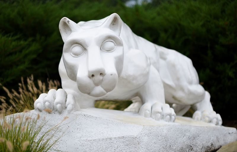 Penn State Behrend's Nittany Lion shrine