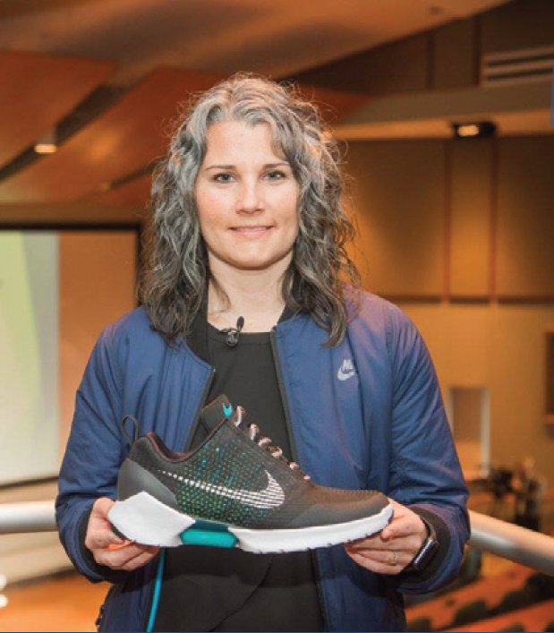 Tiffany Beers '02, a Plastics Engineering Technology graduate and senior innovator at Nike,