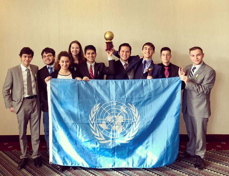 Penn State Behrend Model UN Team wins third overall team award