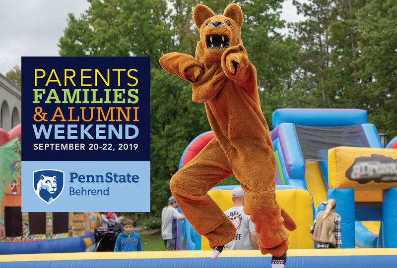 Parents, Families & Alumni Weekend 2019 will be held September 20-22 at Penn State Behrend.