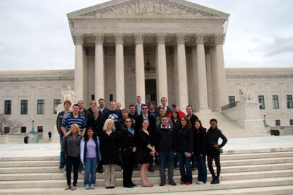 Penn State Behrend Political Science students visit the Supreme Court.