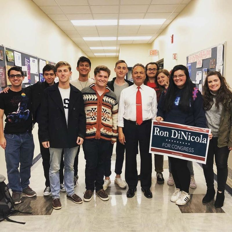 College Democrats host Congressional candidate Ron DiNicola at the Reed Building, October 2018