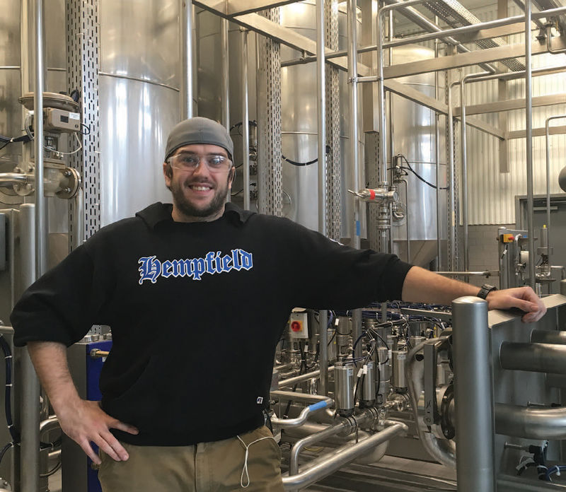 Todd Thorniley '14 puts his Biology degree to use as quality control technician at Southern Tier Brewery in Lakewood, New York.